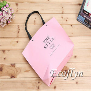 personalized hot pink paper bags discount offer-Ecoflyn