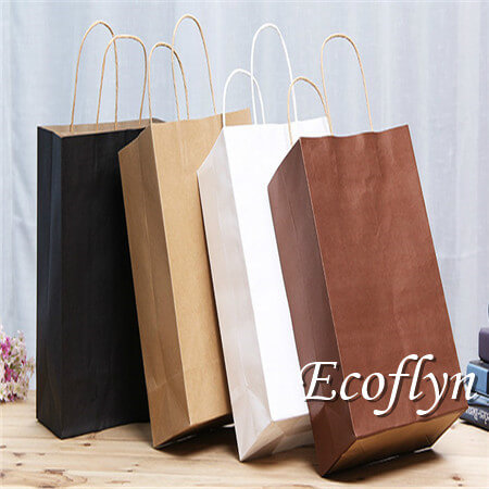 personalized shopping paper bags wholesale-Ecoflyn