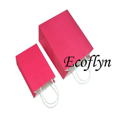 pink kraft paper bags discount offer-Ecoflyn