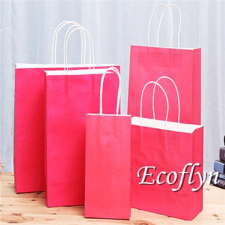 pink shopping paper bags wholesale bulk-Ecoflyn