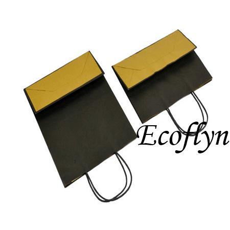popular coloured kraft paper bags handles bags-Ecoflyn