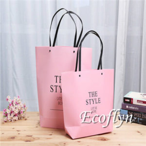 premium quality hot pink paper bags wholesale-Ecoflyn