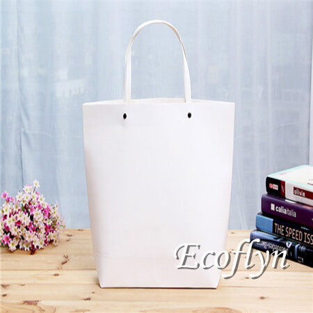 white personalized paper shopping bags wholesale-Ecoflyn