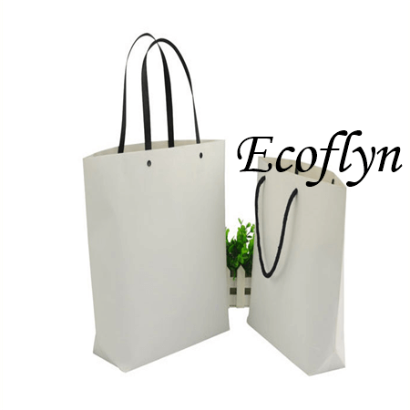 bulk white paper bags with handles special offer-Ecoflyn