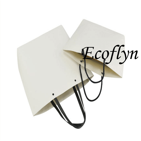 bulk white paper bags with handles wholesale-Ecoflyn