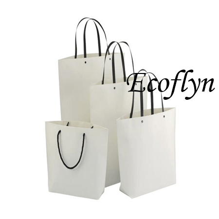 hot designed bulk white paper bags with handles supply-Ecoflyn