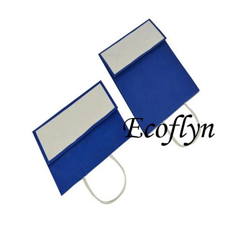 navy blue paper gift bags bulk wholesale-Ecoflyn