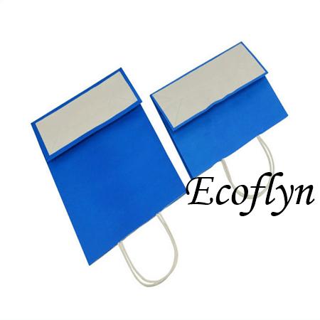 blue kraft paper bags bulk supply-Ecoflyn