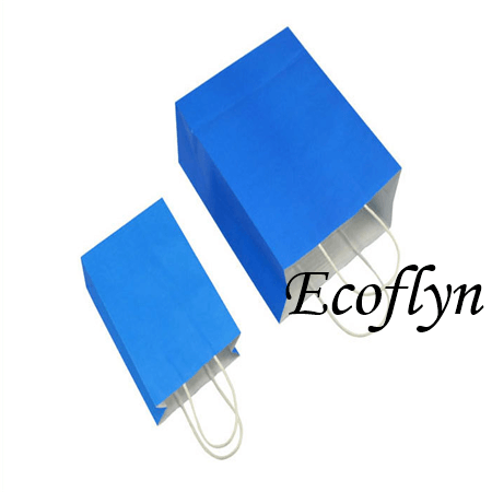 blue kraft paper bags low minimum-Ecoflyn