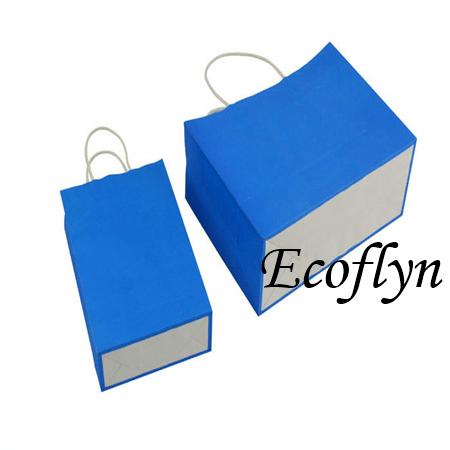 blue kraft paper bags