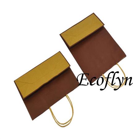 bulk buy paper gift bags designed kraft bags sale-Ecoflyn