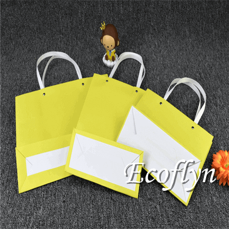 small yellow paper bags tiny promotion bags-Ecoflyn