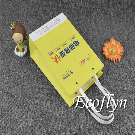small yellow paper bags with handles wholesale-Ecoflyn