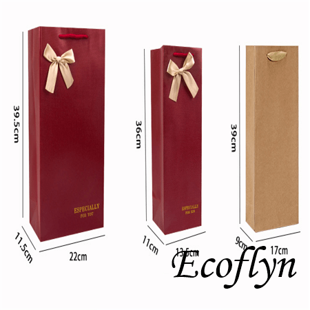 paper bags for wine bottles gift bags with handles wholesale
