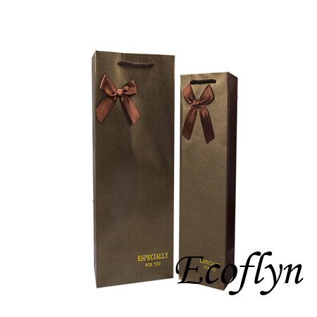 paper bags for wine bottles in stock&fast delivery no minimum