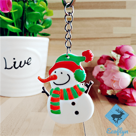 custom pvc keychains Christmas snowman promotional gifts keychains decor in stock