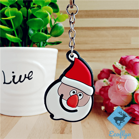 custom pvc keychains Santa Claus keychains bulk wholesale in China