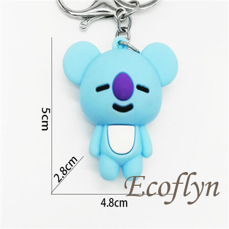 BT21 Koya Cushion pvc rubber keychain bulk wholesale