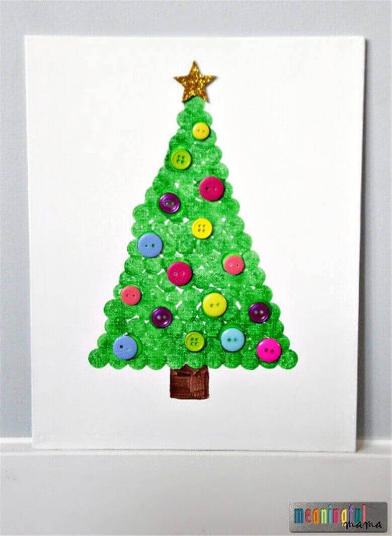 Christmas-Tree-Dot-Art-Craft