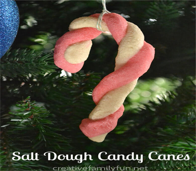 Salt Dough Candy Cane Ornaments