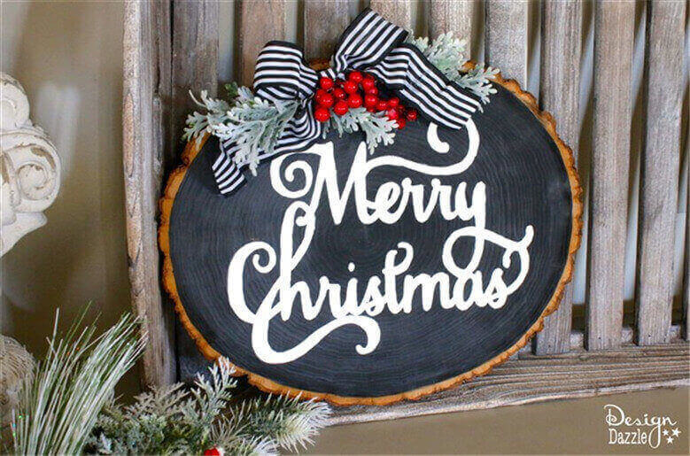 Wood Slice Christmas Signs