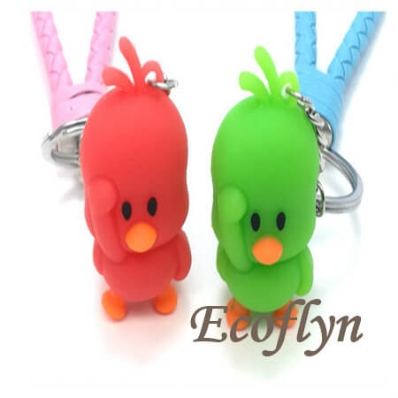 custom soft PVC rubber duck keychain in bulk wholesale