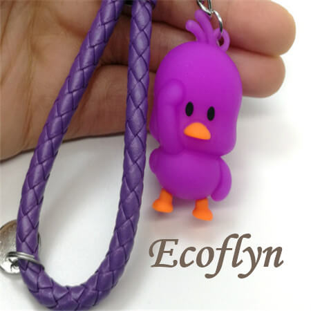 hot purple soft rubber duck keychain promotion gifts wholesale