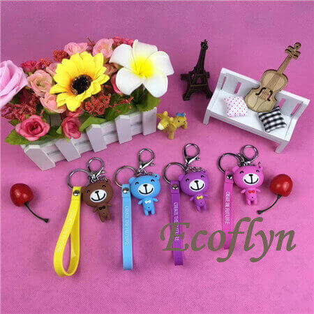 hot sale cheap custom keychain free sample wholesale in China