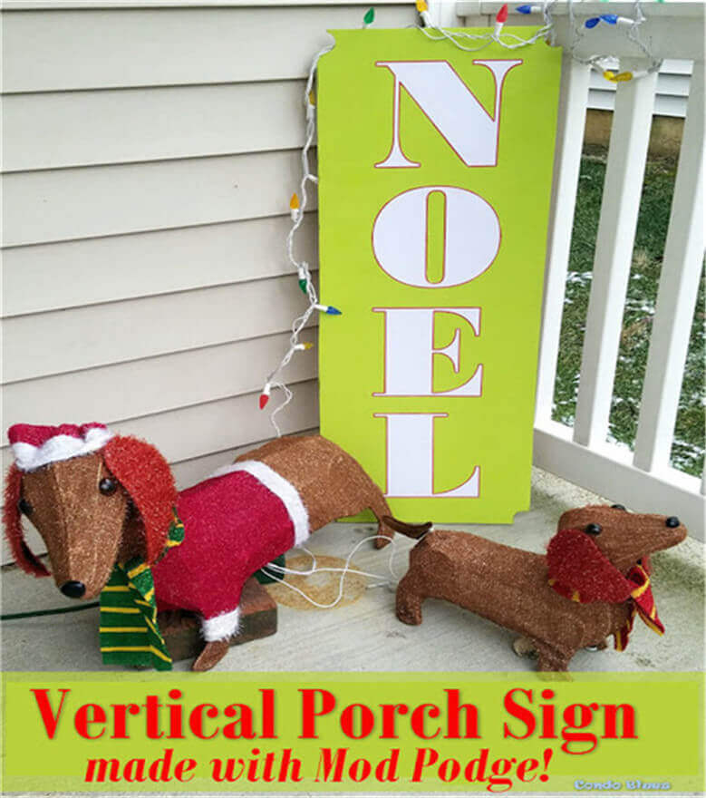 how to make a weather resistant mod podge outdoor sign