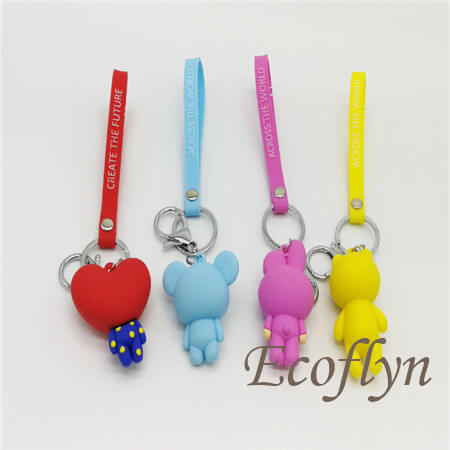 multicolor quality pvc rubber keychain bulk buy in China