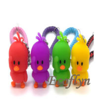 rubber duck keychain free sample wholesale in China