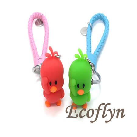 rubber duck keychain low minimum free sample wholesale in China