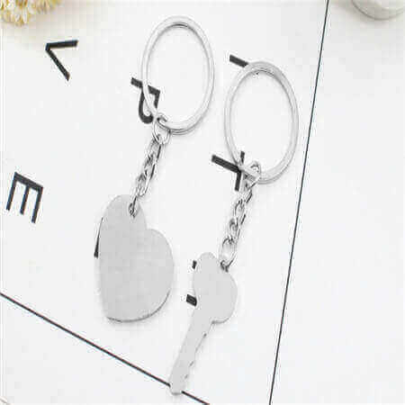 cusotmized couple keychain love keychains key to my heart keychain for couples bulk wholesale in China