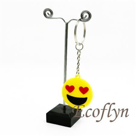 custom PVC emoticon keychains rubber emoji keychains bulk wholesale China