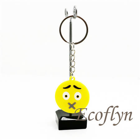 custom emoticon keychains bulk rubber emoji keychains sampe in stock wholesale China