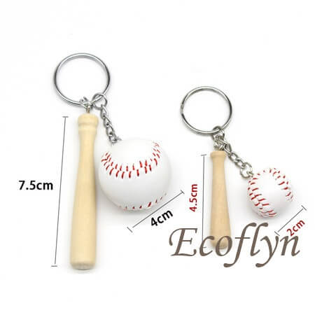 custom free sample baseball keychains bulk wholesale in China
