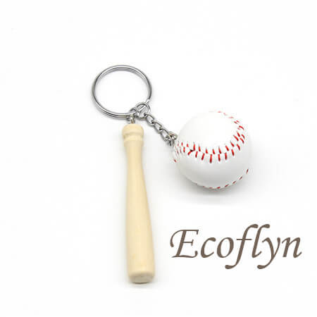 custom free sample in stock baseball keychains in bulk supply China