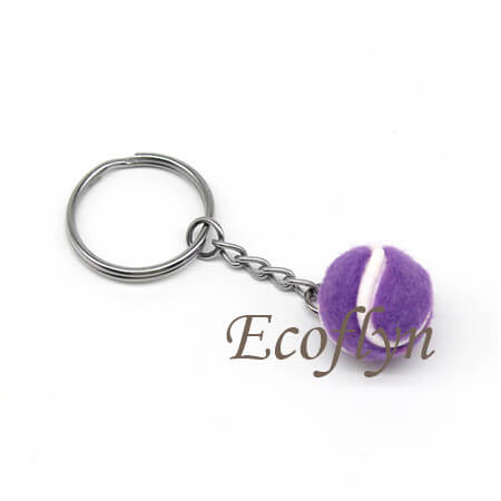 custom free sample tennis ball key rings low minimum wholesale
