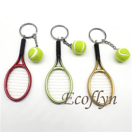 custom low minimum tennis keychains free sample today bulk wholesale