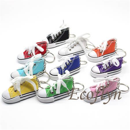 custom multicolor canvas sneaker keychains promotional gifts wholesale in China