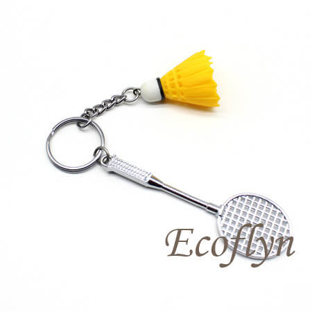 custom personalized badminton keychain wholesale in China