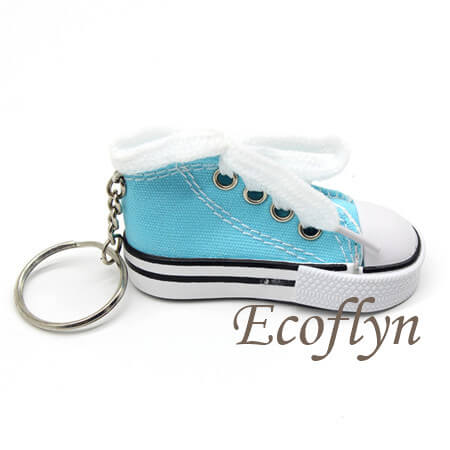 custom personalized canvas sneaker keychains promotion keyrings wholesale in China