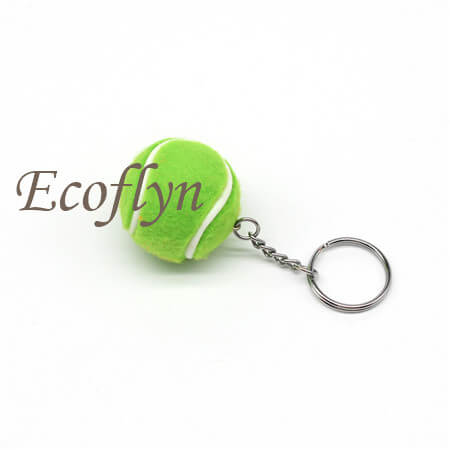 custom personalized tennis ball keychain promotion gifts in bulk wholesale China