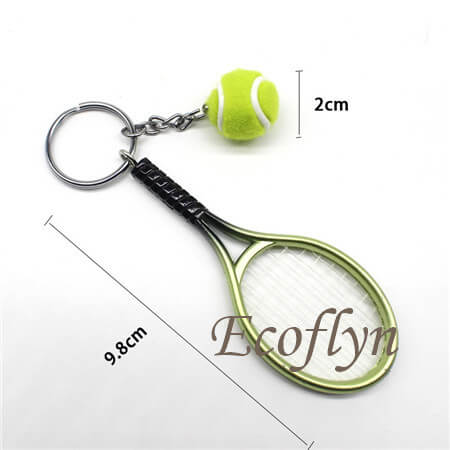custom personalized tennis keychains free sample bulk wholesale in China