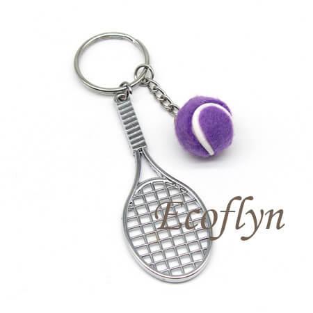 custom premium quality tennis keyrings bulk wholesale supply in China