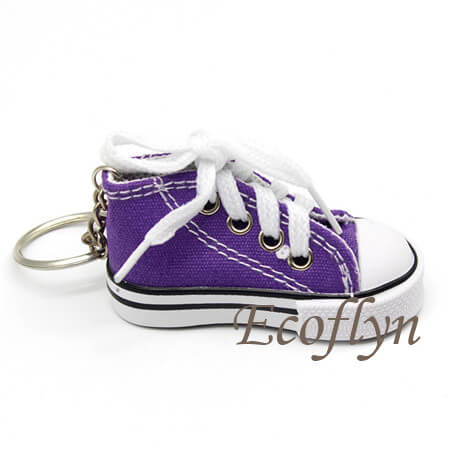 custom purple canvas sneaker keychains low minimum wholesale in China