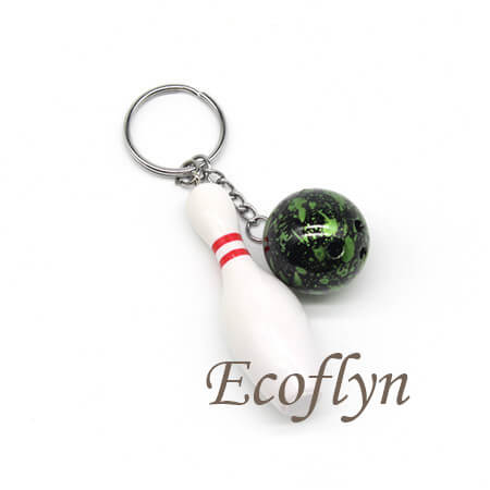 custom quality free sample bowling keychains bulk wholesale in China