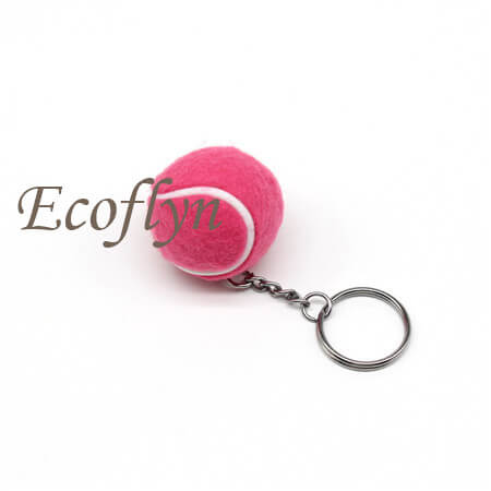 custom quality tennis ball keychain in stock bulk wholesale China