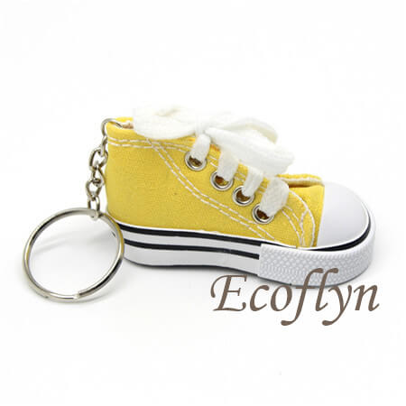custom yellow sneaker keychains free sample in stock wholesale in China