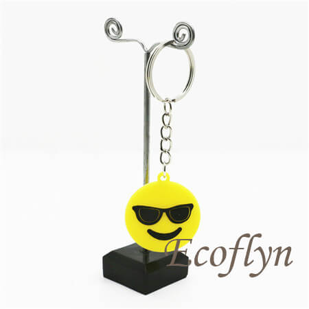 emoji keychains custom rubber emoticon keychains low minimum wholesale China